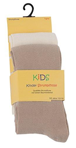 VCA 2er Set Kinder Strumpfhosen, Baumwolle, Mädchen und Jungen Strumpfhose (Öko-Tex Standard 100 Zertifiziert) Gr. 86/92