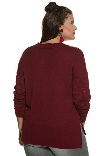 Studio Untold Pullover Mit Lurexärmeln, Pull Femme rouge vin