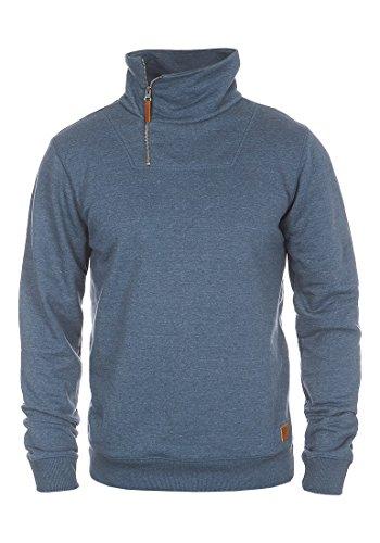 Blend 20700235ME Herren Sweatshirt Pullover Pulli Mit Schalkragen, Größe L,  Farbe Ensign 3c59900135