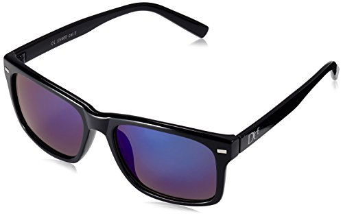 Dice Unisex Sonnenbrille, shiny black/blue revo, one size, D06210-26