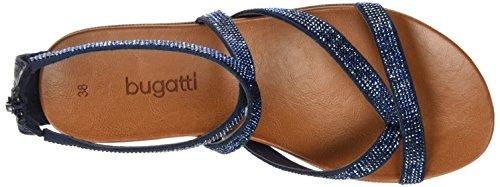 Bugatti - V65856n, Scarpe col tacco con cinturino a T Donna Blu (Blu (dunkelBlu 425))