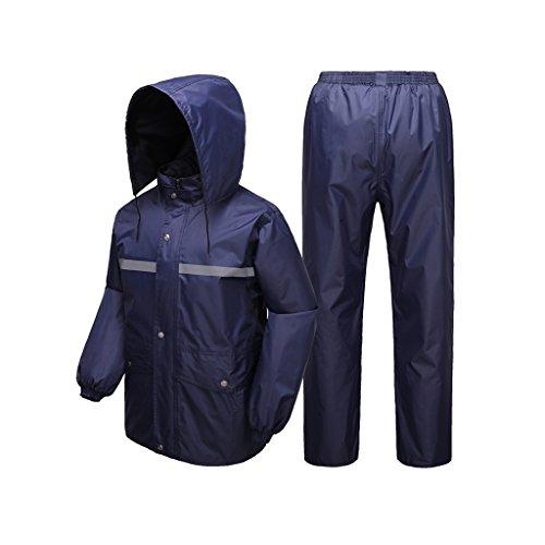 PVC beschichtet Regenjacke wasserdicht Angler REGENMANTEL mit Kapuze S-XXL