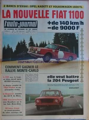 AUTO JOURNAL (L') [No 393] du 06/01/1966