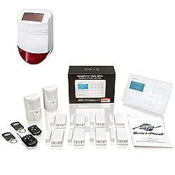 Safe2Home® Funk Alarmanlagen Set SP110 Sabotageschutz Solar Sirene - deutschsprachiges GSM Alarmsystem SMS Alarmierung - Alarmanlagen fürs Haus Büro inkl. Bewegungsmelder