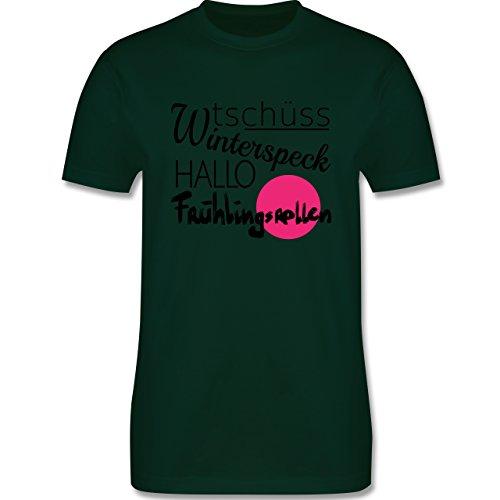 Statement Shirts - Tschüss Winterspeck Hallo Frühlingsrollen - Herren Premium T-Shirt Dunkelgrün