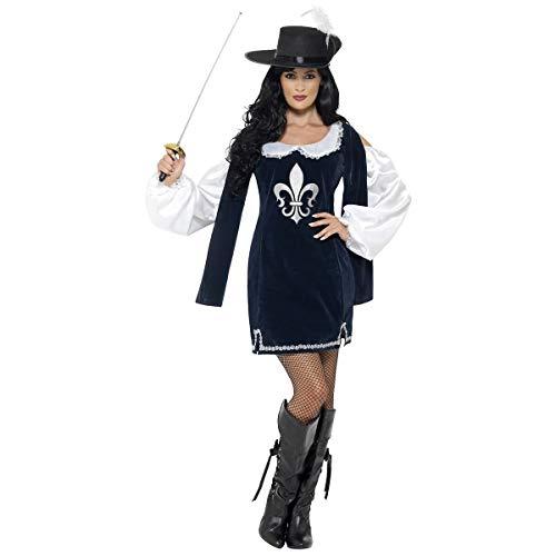 Kostüm Militärischen Weibliche - Damen Fancy Party Kleid mittelalterlichen Outfit Musketier weiblich Kostüm, Blau
