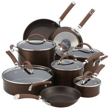 Circulon Premier Professional 13 Piece Hard Anodized Cookware Set Chocolate Bronze