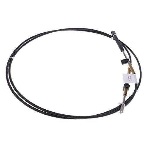 Preisvergleich Produktbild Homyl 1-teiliges Gaszug-Kabel Universal Gaszug Kabel Reperatur Satz Motorrad Ersatzteile Zubehör - Schwarz 10ft