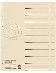 Herlitz 10840205 Trennblatt A4 chamois 100er Kraftkarton Druck, schwarz lochverstärkt