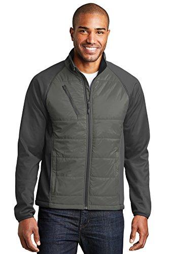 Port Authority® Hybrid Soft Shell Jacket. J787 Smoke Grey/ Grey Steel XL Hybrid Soft Shell Jacket