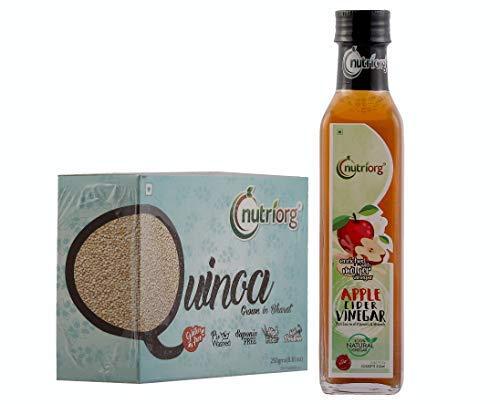 Nutriorg Gluten-Free Quinoa 250g & Apple Cider Vinegar Enrich With Mother Vinegar 250ml (Weight Loss Cholestrol Control Combo Pack)