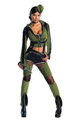 Sucker Punch Amber Kostüm Damen Damenkostüm Kampfoutfit Cosplay grün Gr. XS - L, Größe:M
