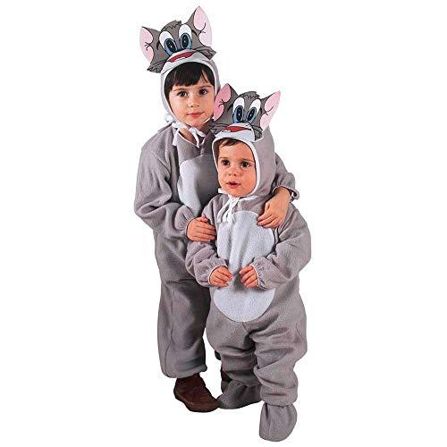 Costume vestito abito travestimento carnevale halloween cosplay bambino gattino - 3602g