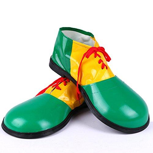 Zubita Clown-Schuhe, Clown Kostüm Zubehör Kunstleder Clowns Schuhe & Zirkus Kostüm für Clown, 35 * 16CM, ()