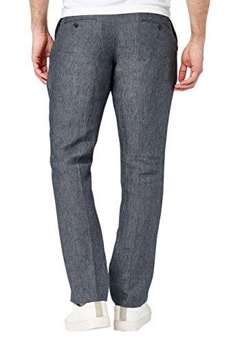 next Uomo Pantaloni In Lino Vestibilità Slim Blu