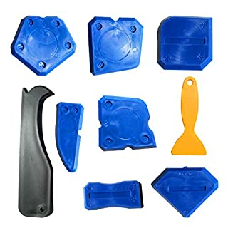 Dokpav 9 Pieces Sealant Tools Caulking Tool Kit of Silicone Spatulas Silicone Remover Sealing Tool for Bathroom Kitchen Room and Frames Sealant Seals