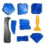 Dokpav 9 Pieces Lisseurs de Joints Silicone Outils d'étanchéité Kit de Calfeutrage Outil de Scellage du dégraissant en Silicone Pour la Salle de Bain Cuisine et Joints d'étanchéité à Cadres