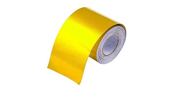 ACAMPTAR Refleter Un Or Ruban Thermique Isolation Thermique dadmission dair Enveloppe de Bouclier reflechissante Moteur Auto-adhesif a Barriere de Chaleur