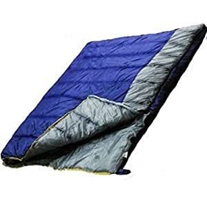Ultracamp Deluxe 400gsm Double Sleeping Bag, Converts To 2 Single Sleeping Bags by Ultracamp