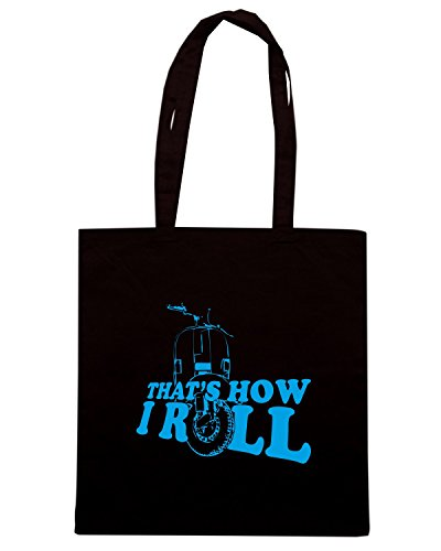 T-Shirtshock - Borsa Shopping OLDENG00684 thats how i roll organic Nero