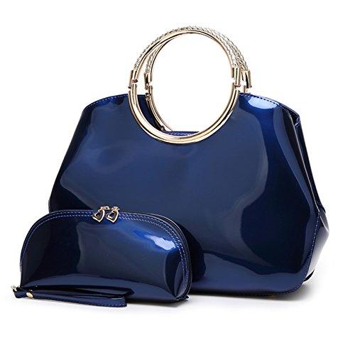 Syknb Mode - Handtasche Tasche Handtasche Trend Bright Braut Styling - Paket. Royal Blue