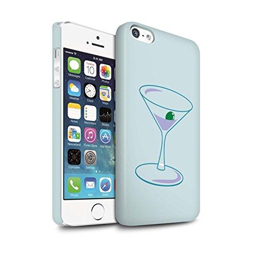 STUFF4 Matte Snap-On Hülle / Case für Apple iPhone 5/5S / Vogelkäfig Muster / Teal Mode Kollektion Martini-Glas/Alkohol