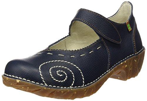 El Naturalista N095 Soft Grain Yggdrasil, Escarpins à Bout Fermé Femme Bleu (Ocean)