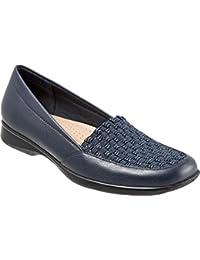 Trotters Women's Jenkins Slip-On,Navy Leather/Synthetic,US 11 W