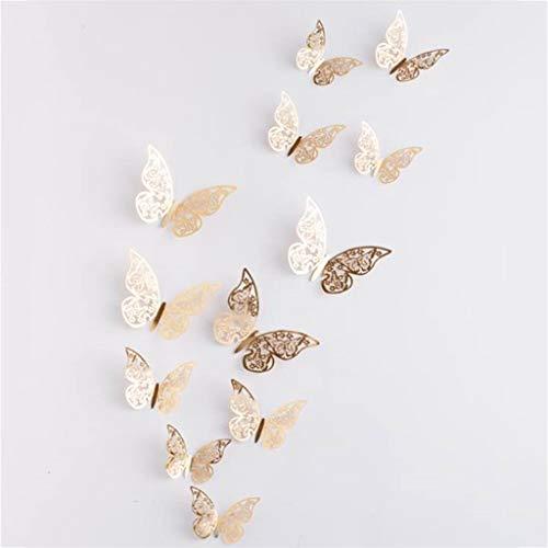 Dasongff 12 Stück Schmetterlinge Wanddekoration Kombination 3D Wandaufkleber Wanddeko Wandsticker Haus Dekoration Wandsticker Wandtattoo Wanddeko (Schauen, Wandtattoo Für Augen)