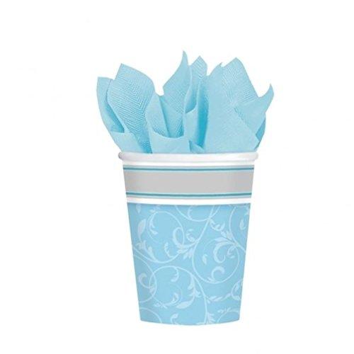 Preisvergleich Produktbild Eden Elfen Versand Schnell Kommunion blau/boy Segen Geschirr & Dekorationen {Amscan} (Banner/Ballon) 8 Paper Cups