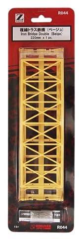 Z gauge R044 double track railway bridge truss 220mm (beige) (japan import)