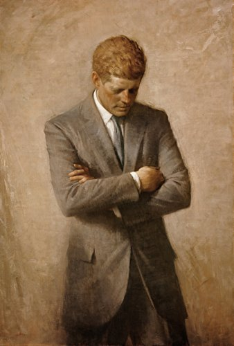 19abc58eb5b Posthumous Official Presidential Portrait of U.S. President John F. Kennedy Poster  Art Photo Historical Posters
