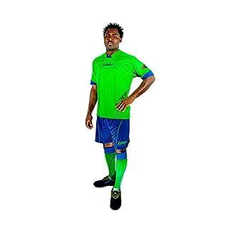 Legea Kit Brasilia T-Shirt et Short Pour Training Football Sport (VERT FLUO-ROYAL, L)