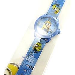 Analog watch 'Minions'blue.