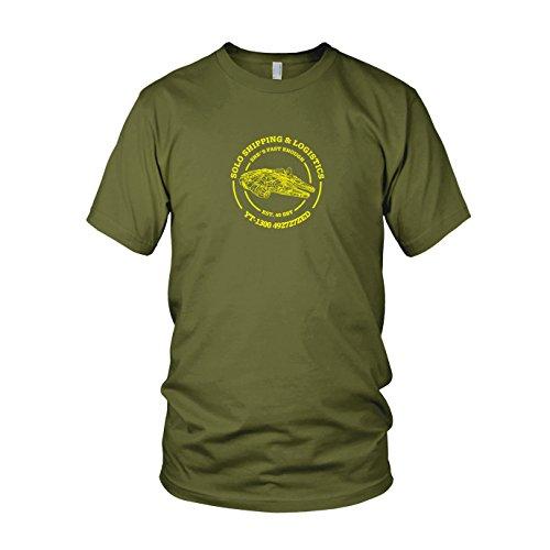 Solo Shipping & Logistics - Herren T-Shirt, Größe: XL, Farbe: army (Wookie Kostümen)
