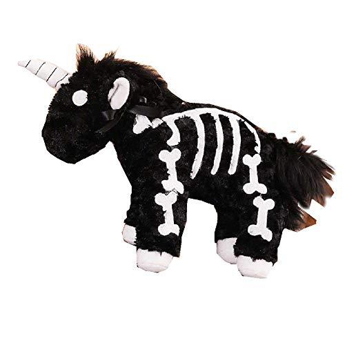 DUNDUNGUOJI Bambola di Peluche Bambola Zaino Diagonale Peluche Unicorno 40cm/- Nero