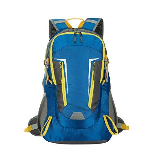 Yy.f40L Outdoor Rucksack Nylon Wasserdicht Sport Bergsteigen Rucksack. Größe: 33 * 20 5 * 53 Cm. (Blau Und Grün) Blue