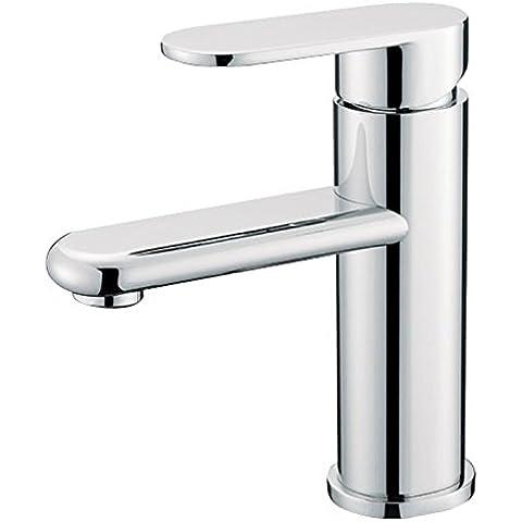 Furesnts casa moderna cucina e bagno rubinetto singolo ovale bacinella di rame rubinetti lavabo e rubinetti,(Standard G 1/2 tubo flessibile universale