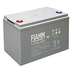 FIAMM BATTERIA 12V 100Ah 12FGL100 VRLA AGM ERMETICA CAMPER