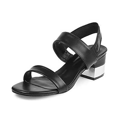 tresmode Womens Beige Block Heel Sandals