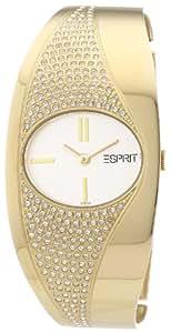 Esprit - ES101572007 - Starlite Gold - Montre Femme - Quartz Analogique - Cadran Argent - Bracelet Acier Doré
