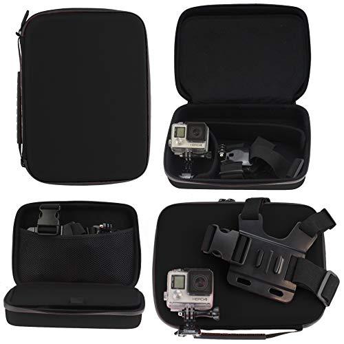 Navitech Schwarz Robuste Hard Case kompatibel mit der GoXtreme Black Hawk 4K Action Camera Robustes Hard Case