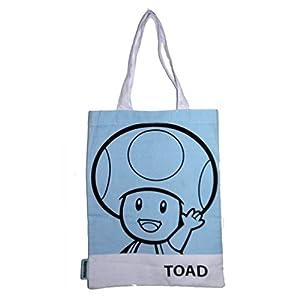 Super Mario 2DBAGTOAD 2D Retro Art Toad - Bolsa para la Compra