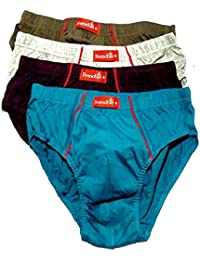 VIP Men's Cotton Briefs (Pack of 4) Color May Vary