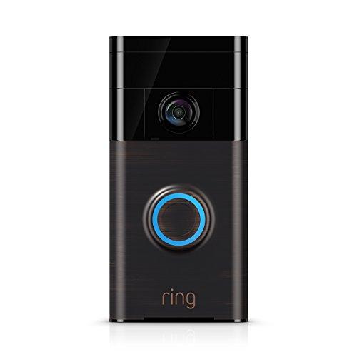 Ring Video Doorbell -  Sonette vidéo 720p HD avec système audio bidirectionnel, détection de mouvement et connexion wi-fi, couleur Bronze Vénitien