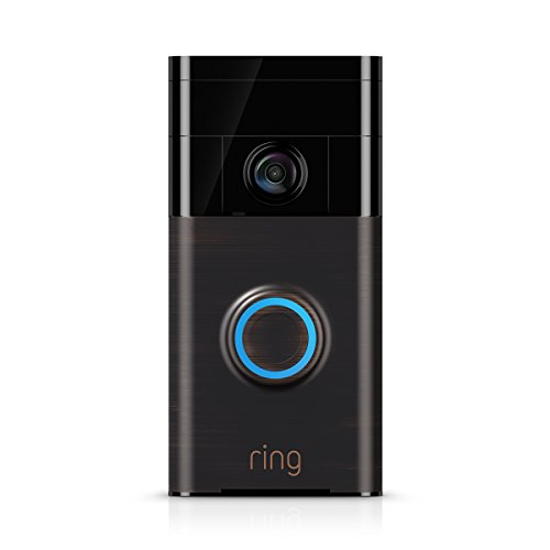 Ring Video Doorbell - 720p HD video, two-way talk, motion detection, wifi, Venetian Bronze