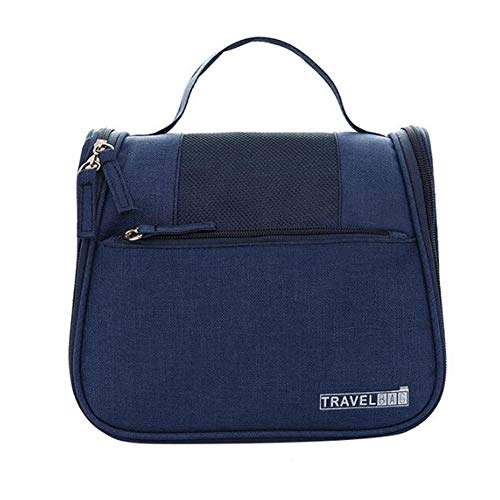 LMWLT Tinta unitaCosmetico Bag Impemeabile,Beauty Case da Viaggio Borsa da Toilette Borsa da Viaggio Impemeabile Ripiegabile Cosmetico Bag per Donna & Uomo,Navy