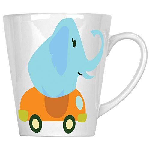 Elefant conduciendo un descapotable 340 ml Latte taza v988L