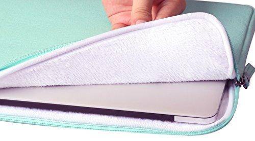 YiJee Wasserdicht Sleeve Laptoptasche Notebookhülle Zubehörtasche für MacBooks 15.4 Zoll Grün