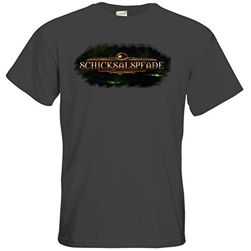 getshirts - Das Schwarze Auge - T-Shirt - Logos - Schicksalspfade Dark Grey